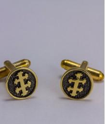 Butoni masonici - Cruce dubla (Grad 33, var. 1)