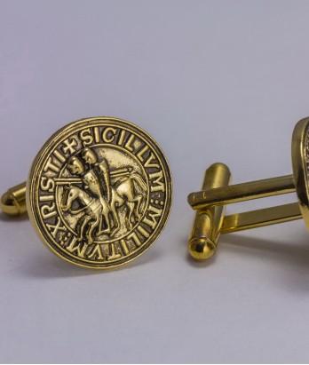 Butoni masonici - Sigiliu Templier (var. 2)