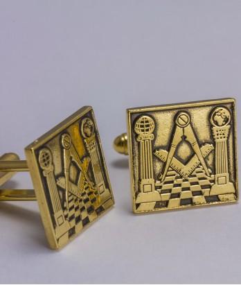 Butoni masonici - Templu masonic (patrat)