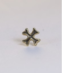 Pin masonic - Cruce cavaler (var. 2, neagra)