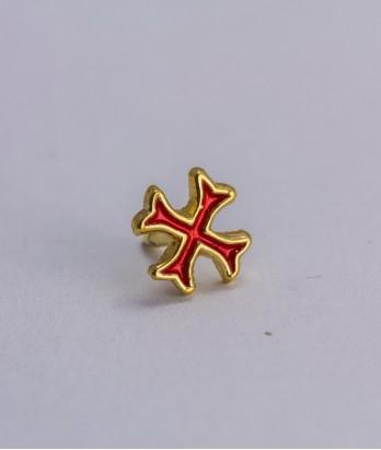 Pin masonic - Cruce cavaler (var. 2, rosie)