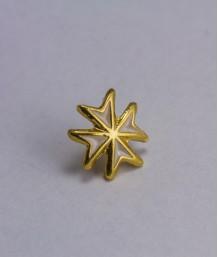 Pin masonic - Cruce cavaler (var. 4, alba)
