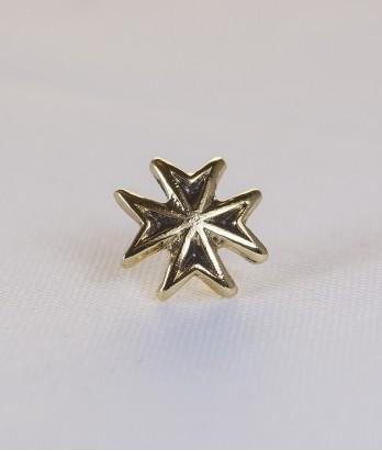 Pin masonic - Cruce cavaler (var. 4, neagra)