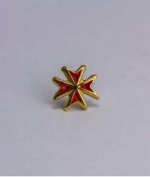 Pin masonic - Cruce cavaler (var. 4, rosie)