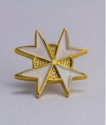 Pin masonic - Cruce cavaler (var. 5, alba)