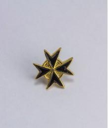 Pin masonic - Cruce cavaler (var. 5, neagra)