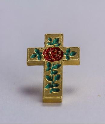Pin masonic - Cruce cu trandafir (Grad 18)