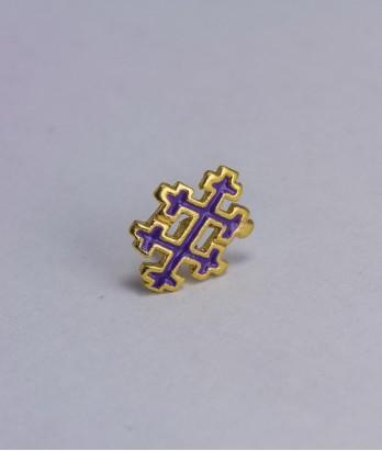 Pin masonic - Cruce dubla (Lorena - mov, Grad 33)