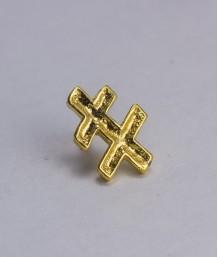 Pin masonic - Cruce dubla var. 1 (Lorena, Grad 33)