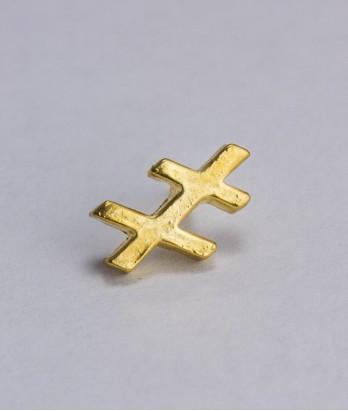 Pin masonic - Cruce dubla var. 2 (Lorena, Grad 33)