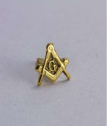Pin masonic - Echer si compas litera G (var. 2)