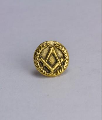 Pin masonic - Echer si compas (var. 2, rotund)