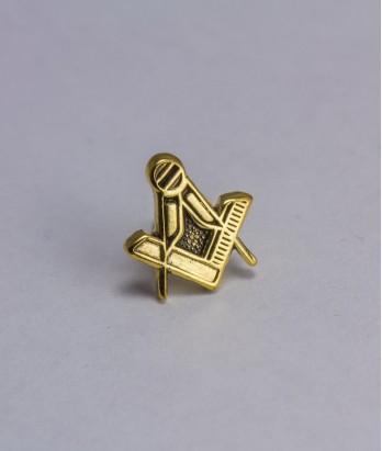Pin masonic - Echer si compas (var. 3)
