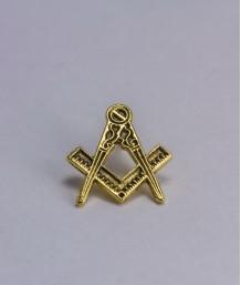 Pin masonic - Echer si compas (var. 4)
