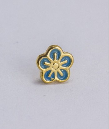 Pin masonic - Floare de nu ma uita (var. 1)