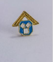 Pin masonic - Maestru Venerabil din Trecut (var. 2, color)