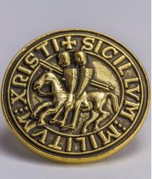 Pin masonic - Sigiliu templier (var. 2)