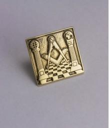 Pin masonic - Templu masonic (patrat)