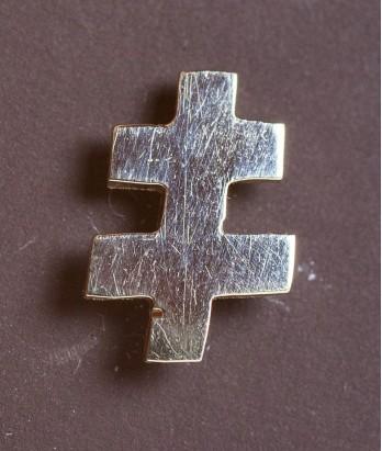 Pin masonic din aur - Cruce dubla (Lorena, Grad 33)