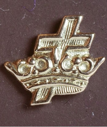 Pin masonic din aur - Rit York