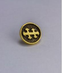 Pin masonic rotund - Cruce dubla (Grad 33)